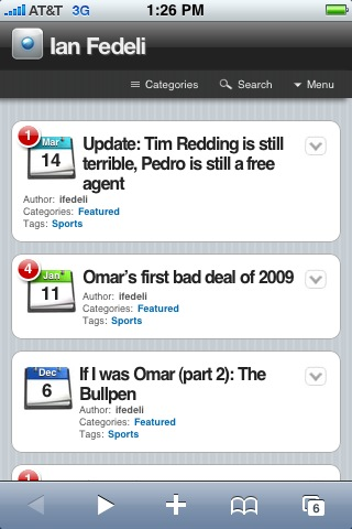 iPhone optimized ifedeli.com